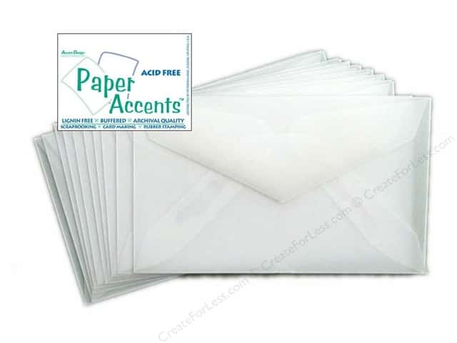 2 1/8 x 3 5/8 in. Envelopes by Paper Accents 10 pc. Vellum