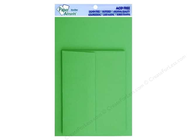 4 1/4 x 5 1/2 in. Blank Card & Envelopes by Paper Accents 10 pc. Green Grass