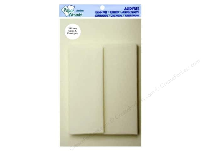 4 1/4 x 5 1/2 in. Blank Card & Envelopes by Paper Accents 10 pc. Ivory Linen