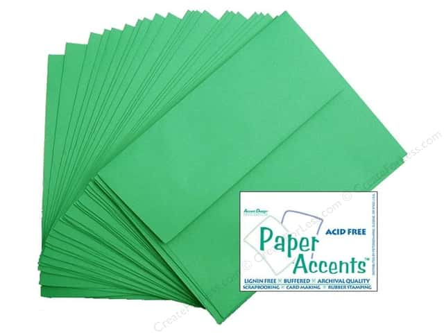 4 1/4 x 5 1/2 in. Envelopes by Paper Accents 25 pc. #148 Green Grass