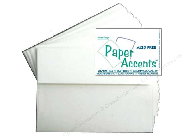 4 1/4 x 5 1/2 in. Envelopes by Paper Accents 25 pc. Linen White