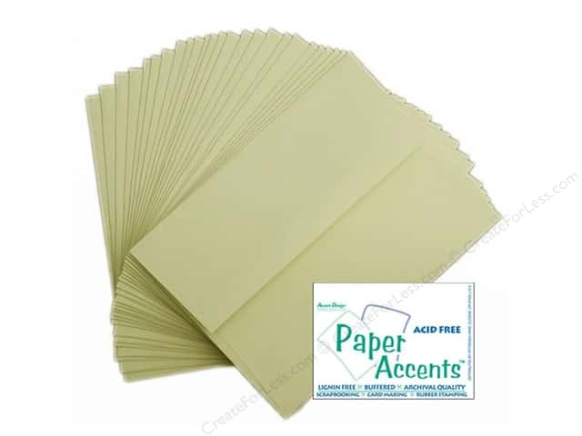 4 1/4 x 5 1/2 in. Envelopes by Paper Accents 25 pc. #402 Linen Light Ivory