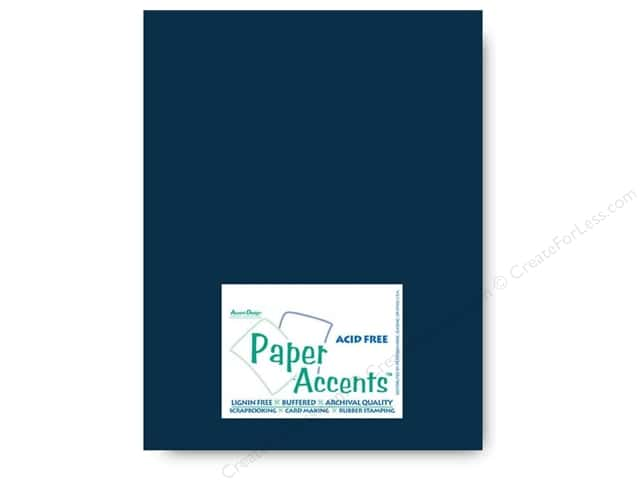 Cardstock 8 1/2 x 11 in. #415 Linen True Blue by Paper Accents (25 sheets)