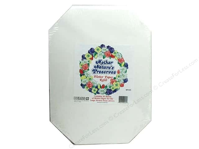 Mother Nature's Preserves Blotter Paper Refill 30 pc. Large