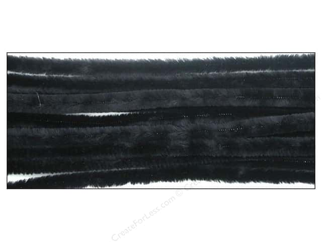 Chenille Stems by Accents Design 9 mm x 12 in. Black 12 pc.