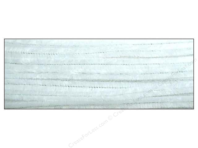 Chenille Stems by Accents Design 9 mm x 12 in. White 12 pc.