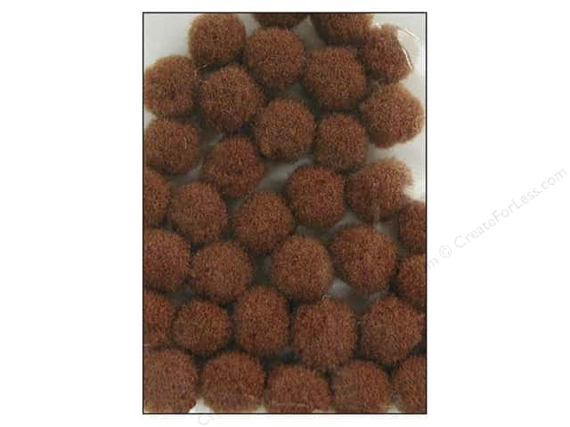 PA Essentials Pom Poms 3/8 in. Brown 100 pc.