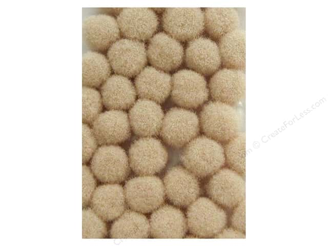 PA Essentials Pom Poms 3/8 in. Beige 100 pc.