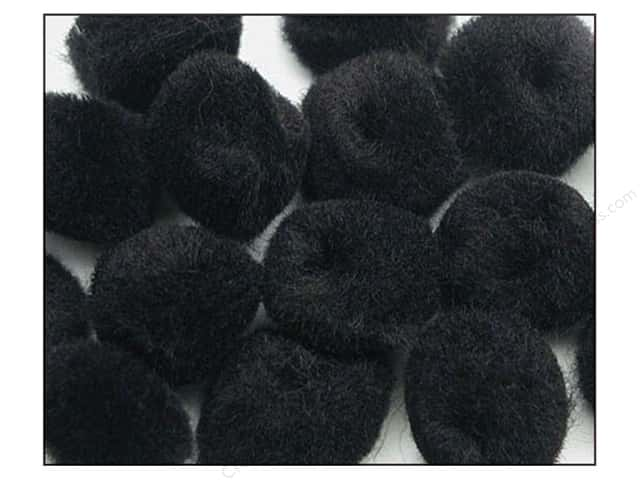 Pom Pom by Accent Design 1 in. Black 100pc.