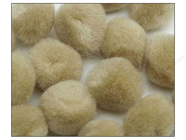 Pom Pom by Accent Design 1 in. Beige 100pc.
