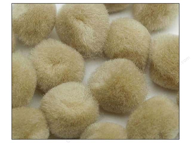 Pom Pom by Accent Design 1 1/2 in. Beige. 50pc.