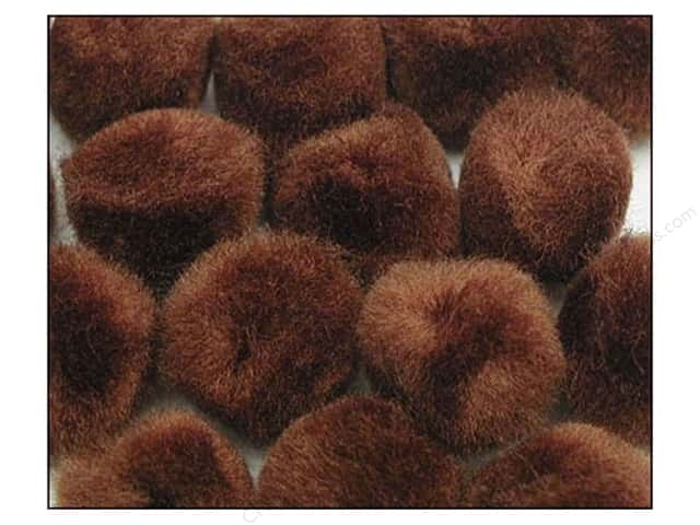 Pom Pom by Accent Design 2 in. Brown 50 pc.