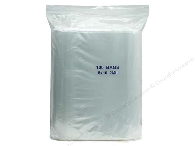 GTZIP Plain 2 Mil Zip Bags 8 x 10 in. Clear 100 pc.