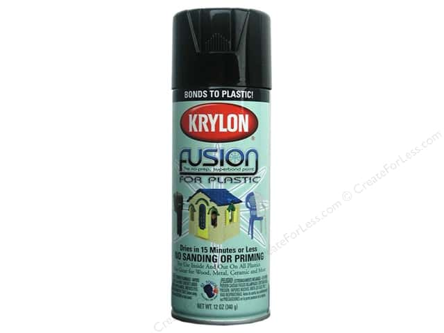 Krylon Fusion for Plastic Paint 12 oz. Gloss Black