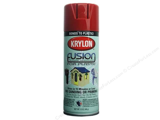 Krylon Fusion for Plastic Paint 12 oz. Red Pepper