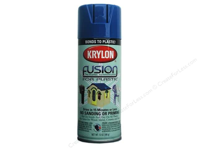 Krylon Fusion for Plastic Paint 12 oz. Patriotic Blue