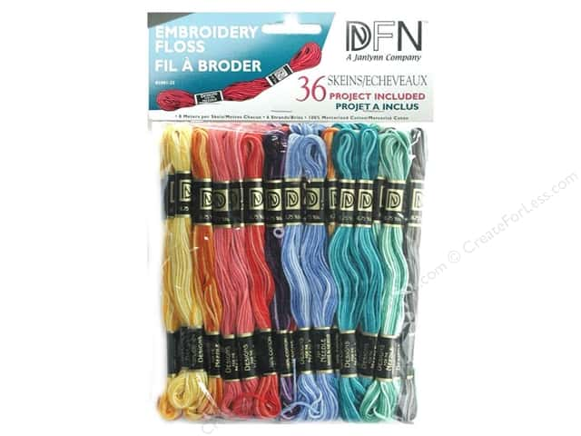 Janlynn Embroidery Floss Pack 36 pc. Variegated