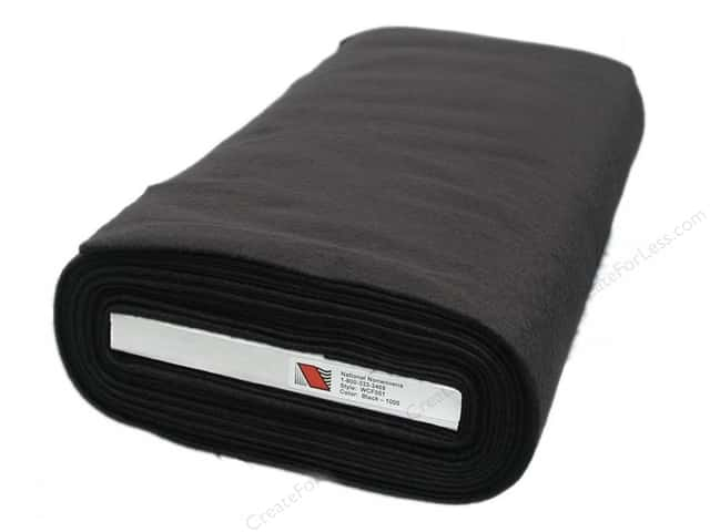 National Nonwovens 20% Wool Felt 36 in. x 10 yd. Black (10 yards)