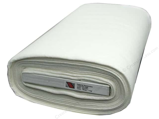 National Nonwovens 20% Wool Felt 36 in. x 10 yd. White (10 yards)