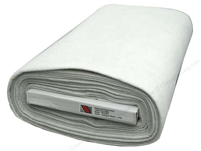 National Nonwovens WoolFelt  36 in. x 10 yd. Antique White (10 yards)