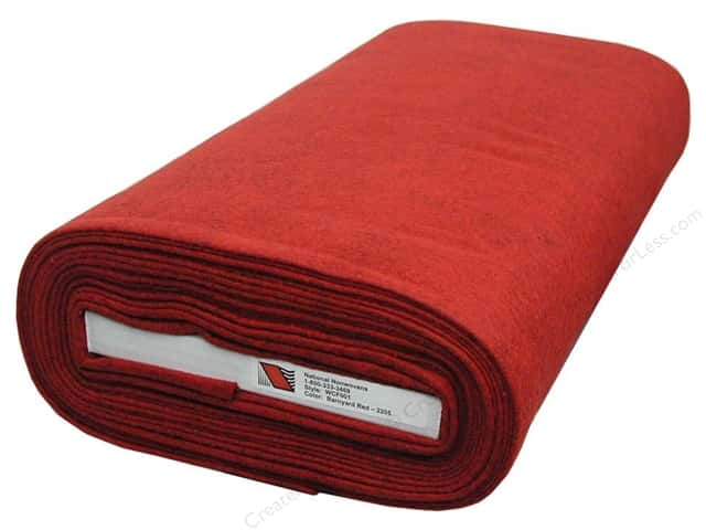 National Nonwovens WoolFelt  36 in. x 10 yd. Barnyard Red (10 yards)