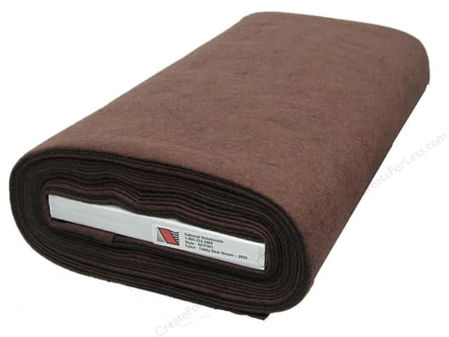 National Nonwovens WoolFelt  36 in. x 10 yd. Teddy Bear Brown (10 yards)