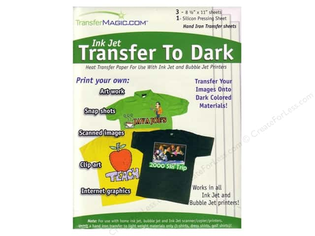 TransferMagic.com Ink Jet Transfer Paper  To Dark 3 pc