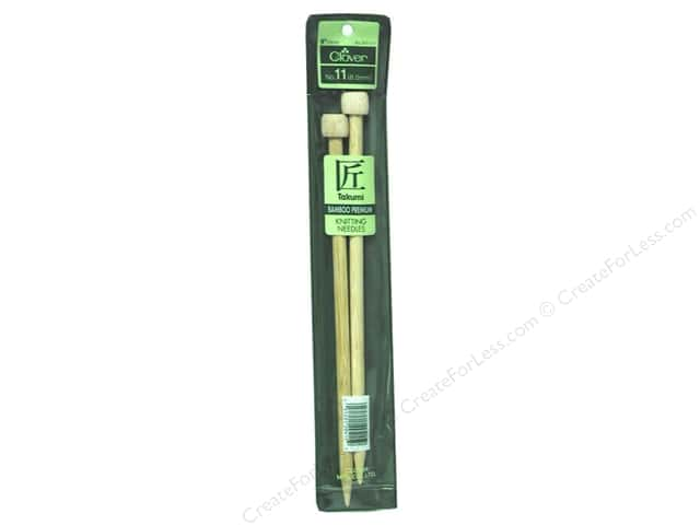 Clover Bamboo Single Point Knitting Needles 9 in. Size 11 (8.0 mm)