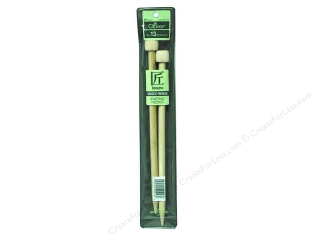 Clover Bamboo Single Point Knitting Needles 9 in. Size 13 (9.0 mm)