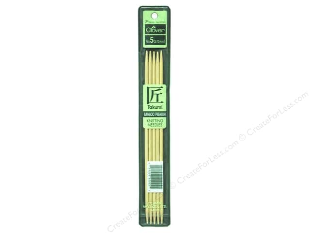 Clover Bamboo Knitting Needle Double Point 7 in. Size 5 (3.75 mm) 5 pc.