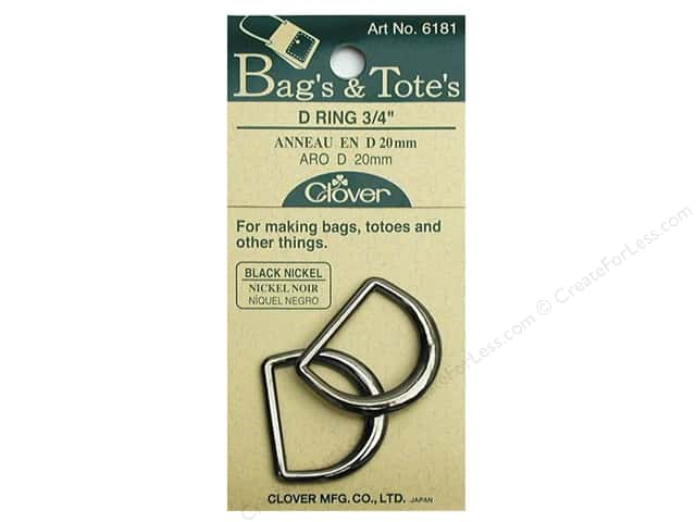 Clover D Rings 3/4 in. Black Nickel