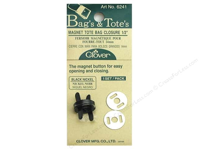Clover Magnet Tote Bag Closures 1/2 in. Black Nickel