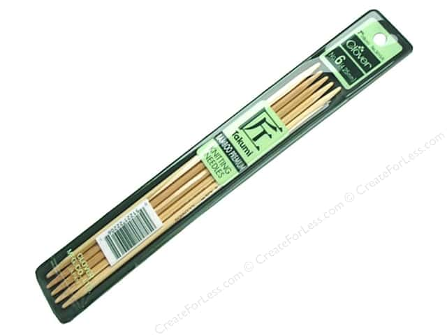 Clover Bamboo Knitting Needle Double Point 7 in. Size 6 (4.00 mm) 5 pc.