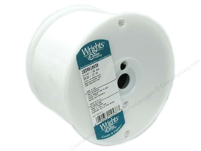 "Wrights Pleater Tape 3 7/8"" White (30 yards)"