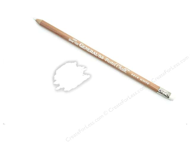 General's MultiPastel Pastel Chalk Pencil White