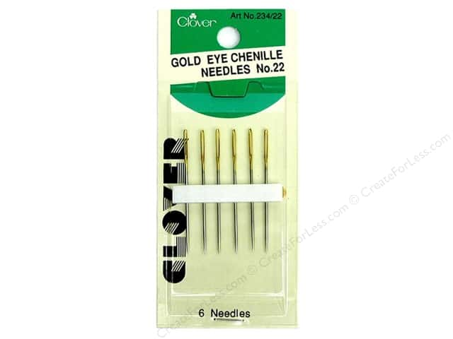Clover Gold Eye Chenille Needles - Size 22 6 pc.