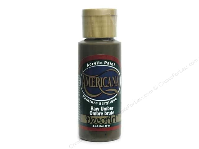 DecoArt Americana Acrylic Paint 2 oz. #130 Raw Umber