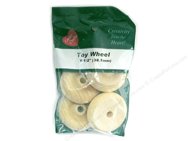 Lara's Wood Toy Wheels 1 1/2 in. 4 pc.