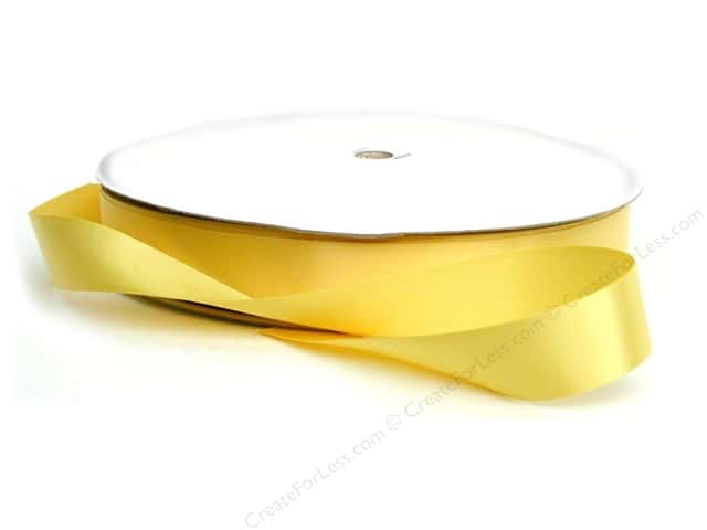 Offray Double Face Satin Ribbon 7/8 in. x 100 yd. Yellow Gold