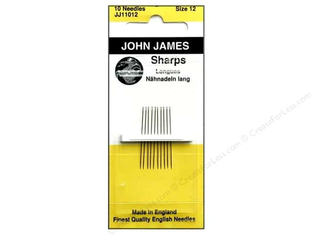 John James Sharps Sewing Needles Size 12 12 pc.