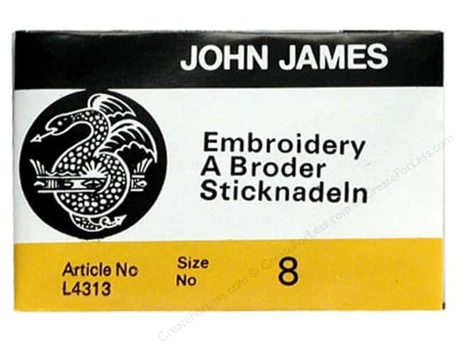 John James Embroidery Needles Size 8 25 pc. (2 packages)