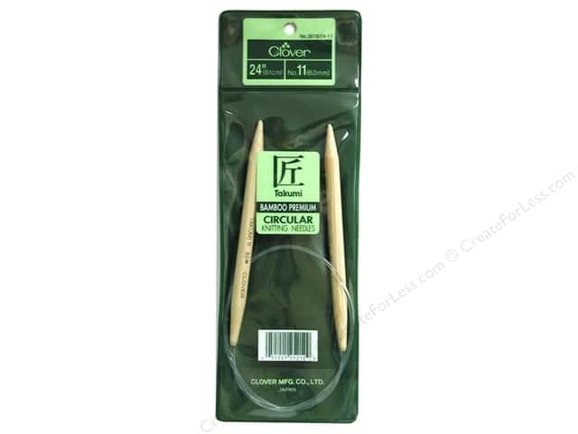 Clover Bamboo Circular Knitting Needles 24 in. Size 11 (8 mm)