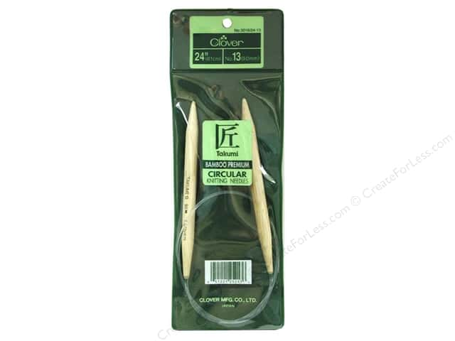 Clover Bamboo Circular Knitting Needles 24 in. Size 13 (9 mm)