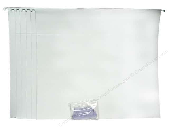 Cropper Hopper Hanging File Folders 13 1/4 x 14 3/4 in. White 6 pc.