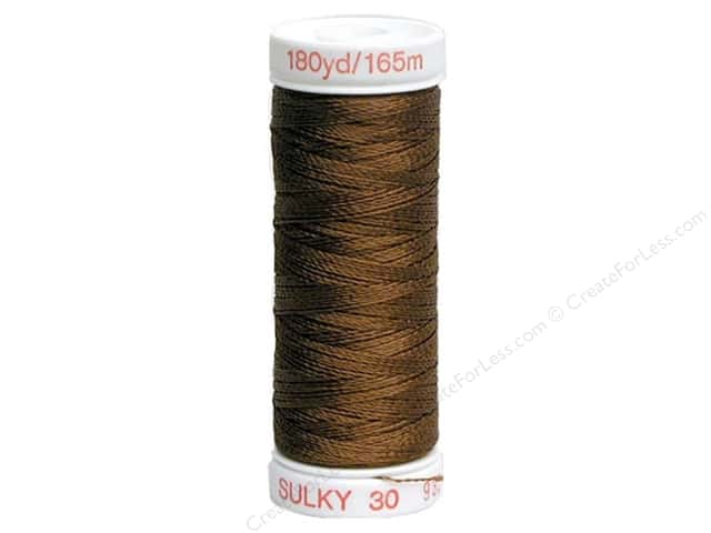 Sulky Rayon Thread 30 wt. 180 yd. Brown