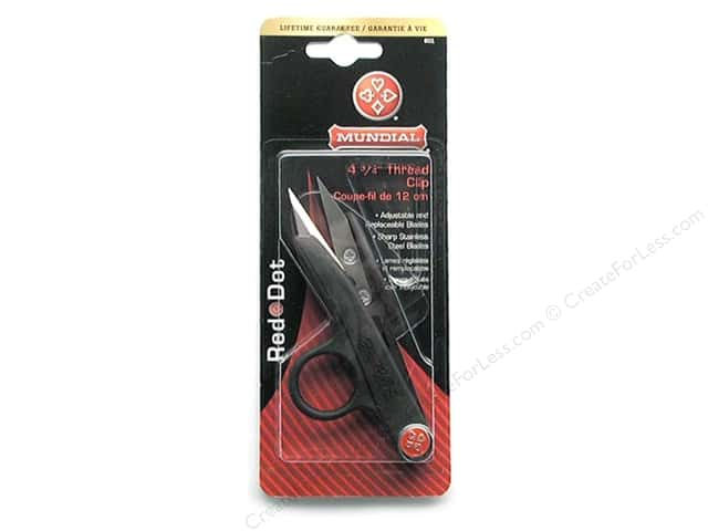 Mundial 4 3/4 in. Red Dot Thread Clip