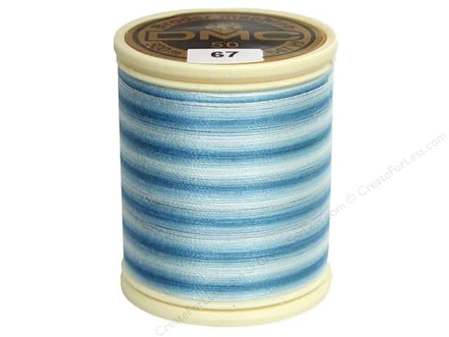 DMC Cotton Machine Embroidery Thread 50 wt. 547 yd. #67 Varigated Baby Blue