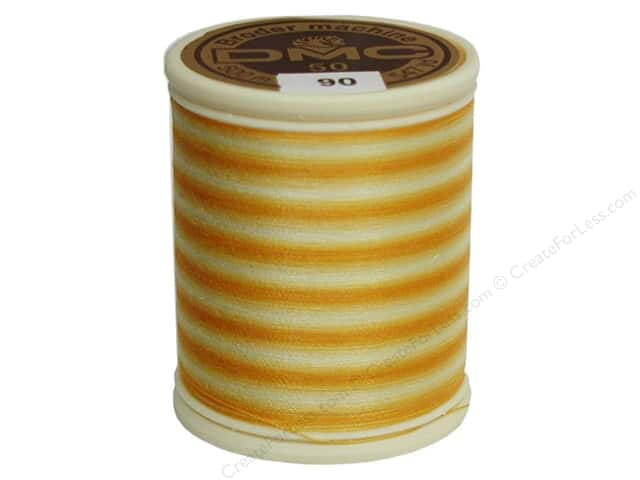 DMC Cotton Machine Embroidery Thread 50 wt. 547 yd. #90 Varigated Yellow