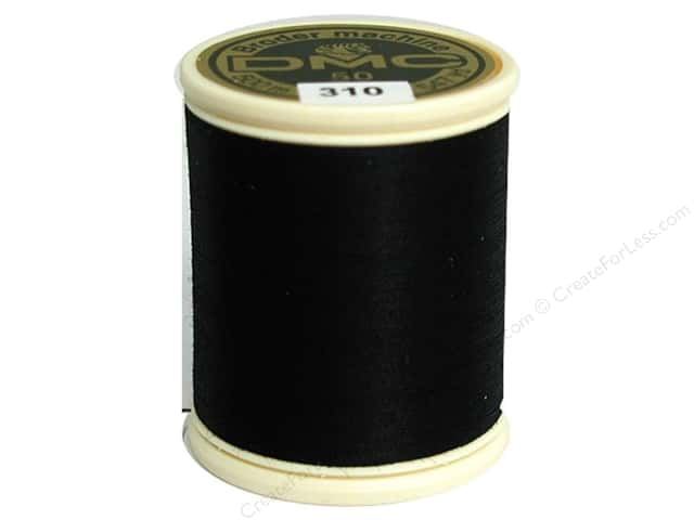 DMC Cotton Machine Embroidery Thread 50 wt. 547 yd. #310 Black