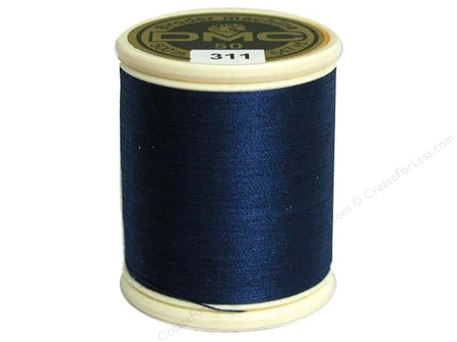 DMC Cotton Machine Embroidery Thread 50 wt. 547 yd. #311 Medium Navy Blue